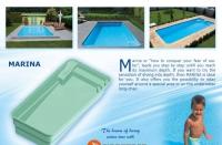 Луксозен дълбок син басейн