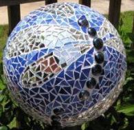 Облицована топка за градината със стъклокерамика