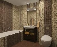 Стъклокерамична облицовка на баня