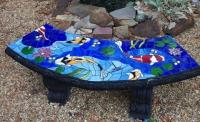 Стъклокерамична облицовка на пейка