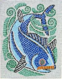Стъклокерамична фигура риба